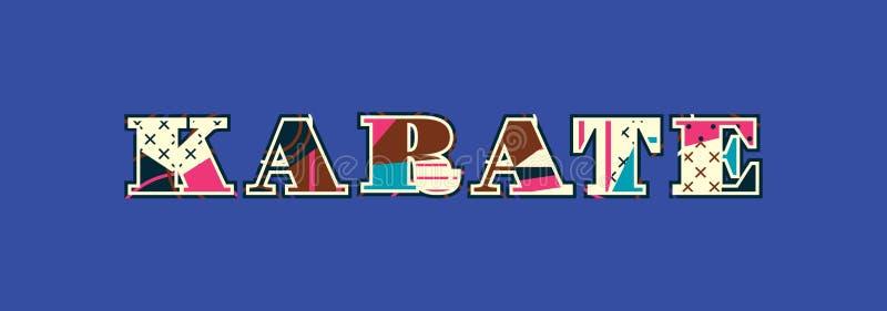 Concept Word Art Illustration de karaté illustration libre de droits