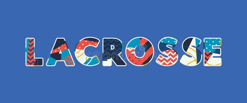 Concept Word Art Illustration de lacrosse illustration stock