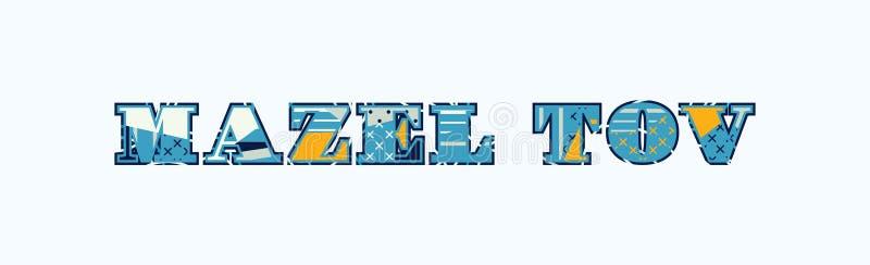 Concept Word Art Illustration de Mazel Tov illustration libre de droits