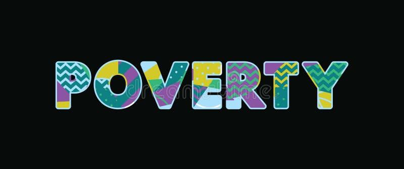 Concept Word Art Illustration de pauvreté illustration de vecteur