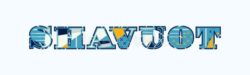 Concept Word Art Illustration de Shavuot illustration libre de droits