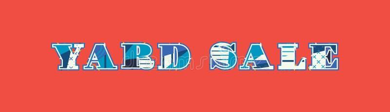 Concept Word Art Illustration de vente de bric-à-brac illustration stock