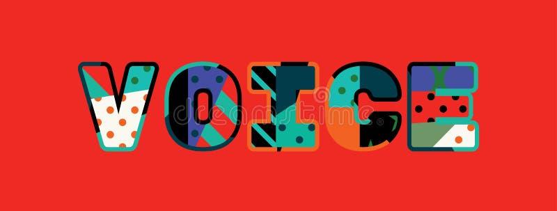 Concept Word Art Illustration de voix illustration stock