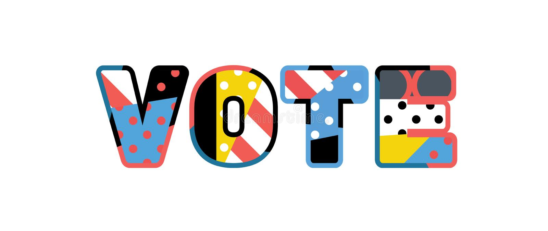 Concept Word Art Illustration de vote illustration stock