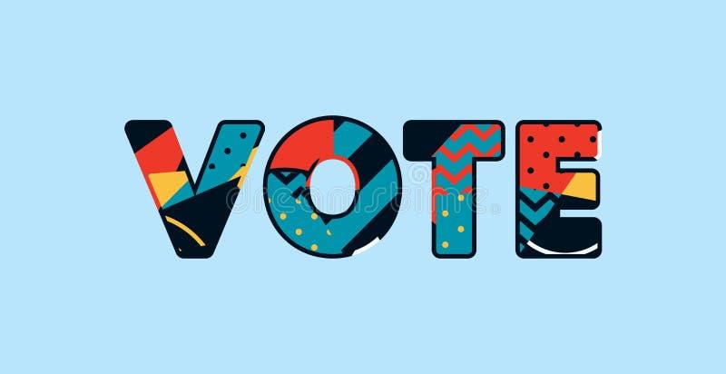 Concept Word Art Illustration de vote illustration de vecteur