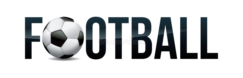 Concept Word Art Illustration du football du football illustration de vecteur