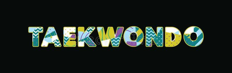 Concept Word Art Illustration du Taekwondo illustration de vecteur