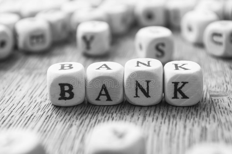 Concept word forming with wooden cube  - Bank stock photography