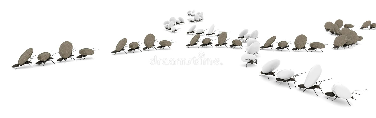 concept work, team of ants royalty free illustration