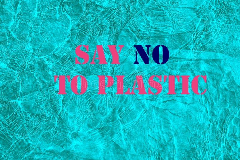 Concept of World Environment Day - Plastic Free. Ocean water is polluted with plastic. Concept of saving the environment, stock photos