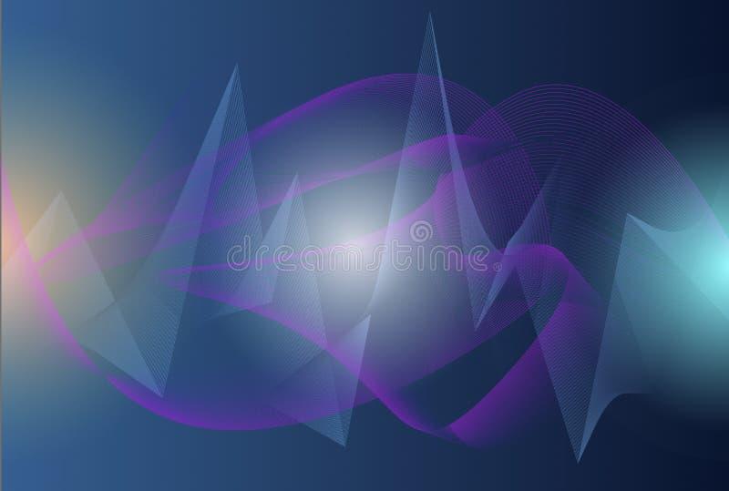 Concept Wunder Motion Grafik Illustration der Zukunft, futuristische abstrakte illuminate Linie und Punkt Verbindung hellblau vio lizenzfreie stockfotografie