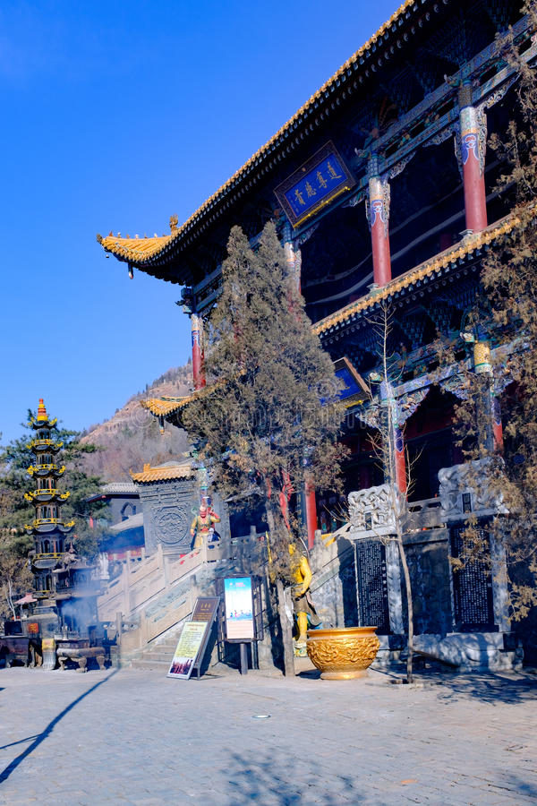 Concept of xining city in qinghai province beishan tulou, also known as the north yamadera royalty free stock photo