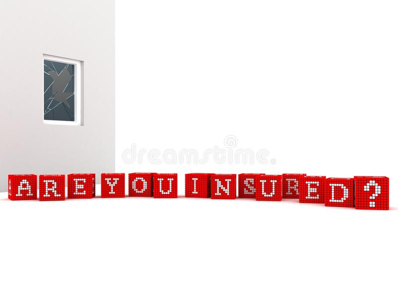 Download Concept Are You Insured On White Background Stock Illustration - Image: 19195420