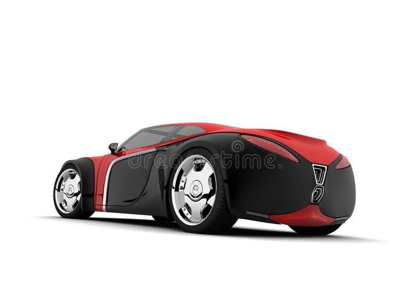 Conceptcar. My conceptcar design, my 3d model and render stock illustration