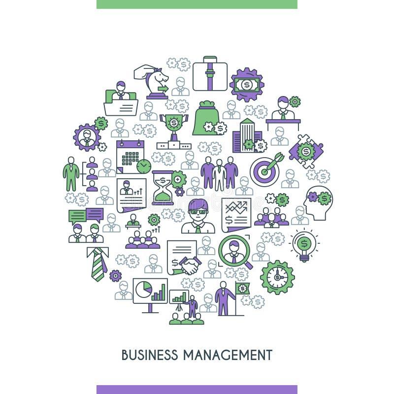 Concepte för affärsledning stock illustrationer