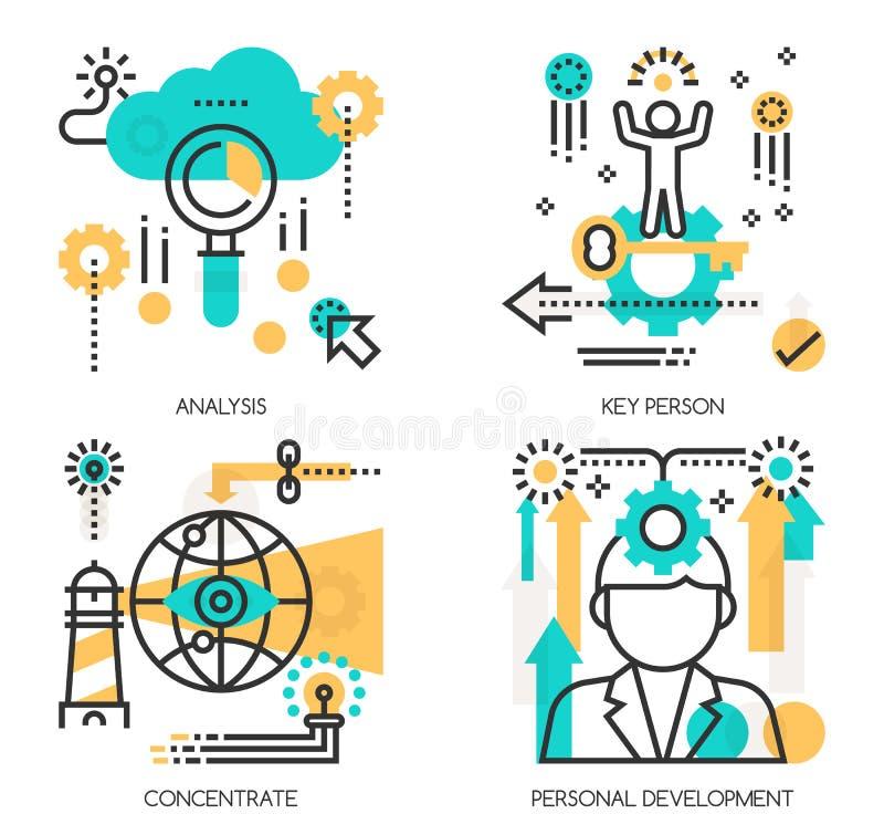 Concepten Analyse, Zeer belangrijke persoon stock illustratie