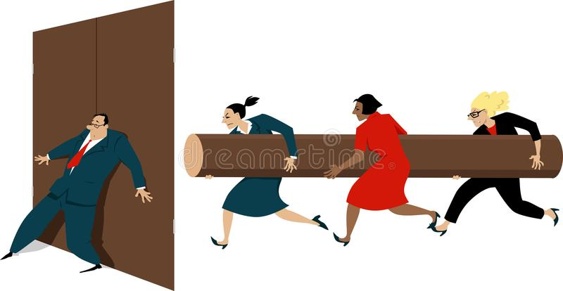 Concepten feministische illustratie royalty-vrije illustratie