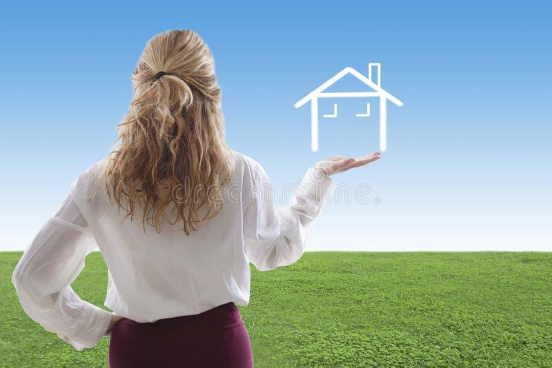 Concepten het kopen van huis stock foto