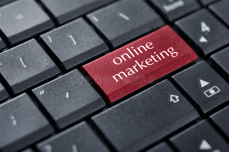 Concepten Online Marketing Royalty-vrije Stock Afbeelding