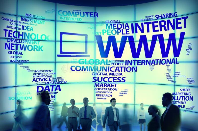 Concepten van de Verbindingsinternet van World Wide Web de Globale stock foto's