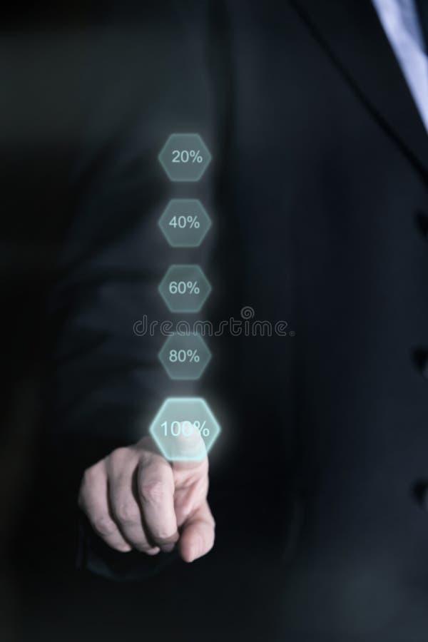 Concepten volledige prestaties stock afbeelding