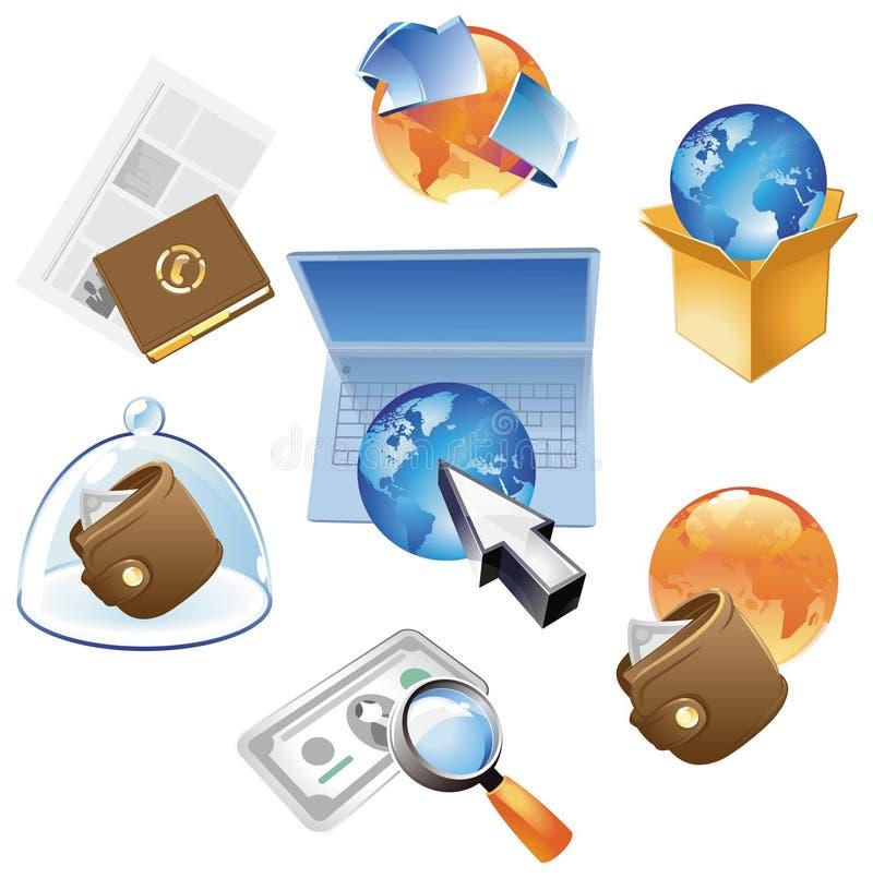 Concepten voor zaken wereldwijd stock illustratie