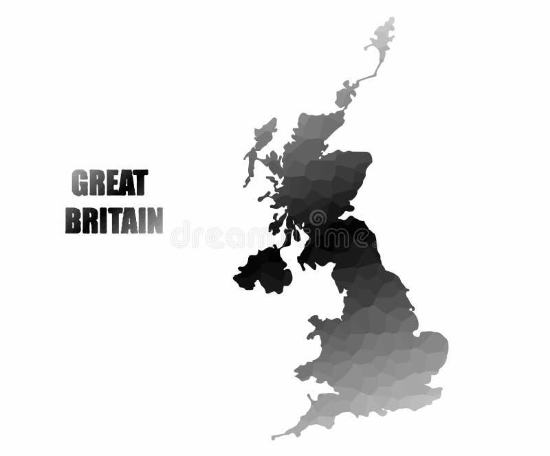Conceptenkaart van Groot-Brittannië stock afbeeldingen