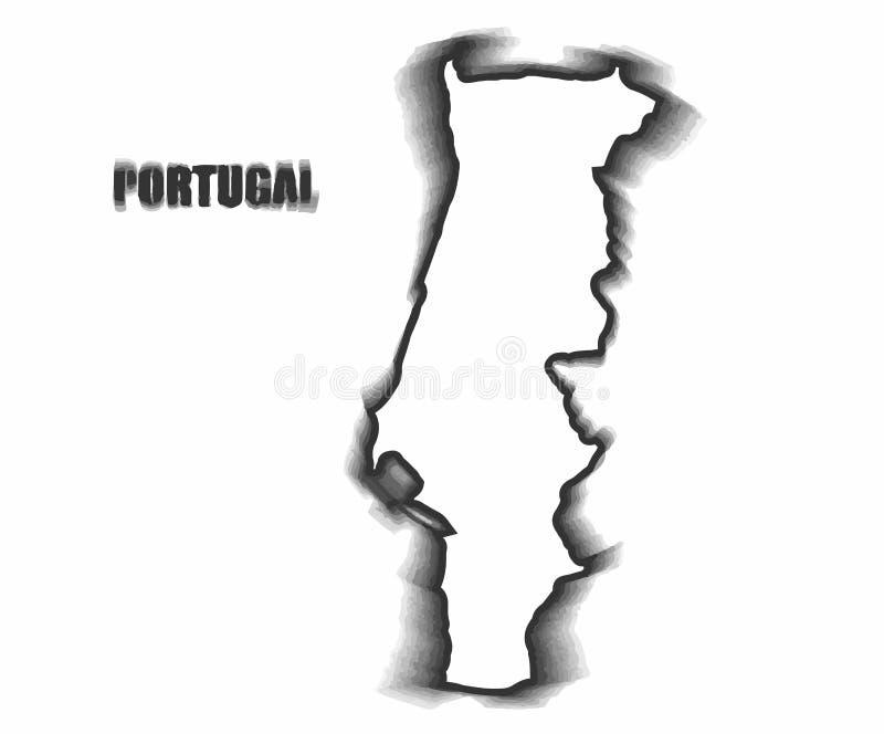 Conceptenkaart van Portugal royalty-vrije stock afbeelding