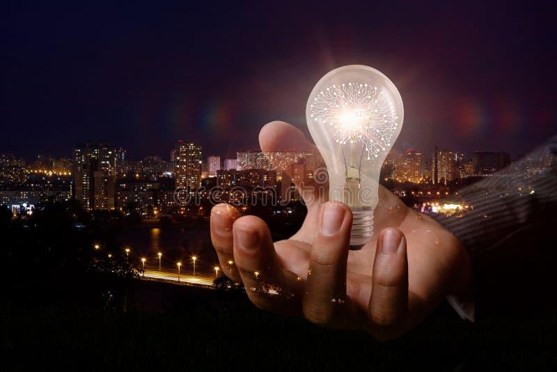 Conceptenkunstmatige intelligentie en ideeën stock foto