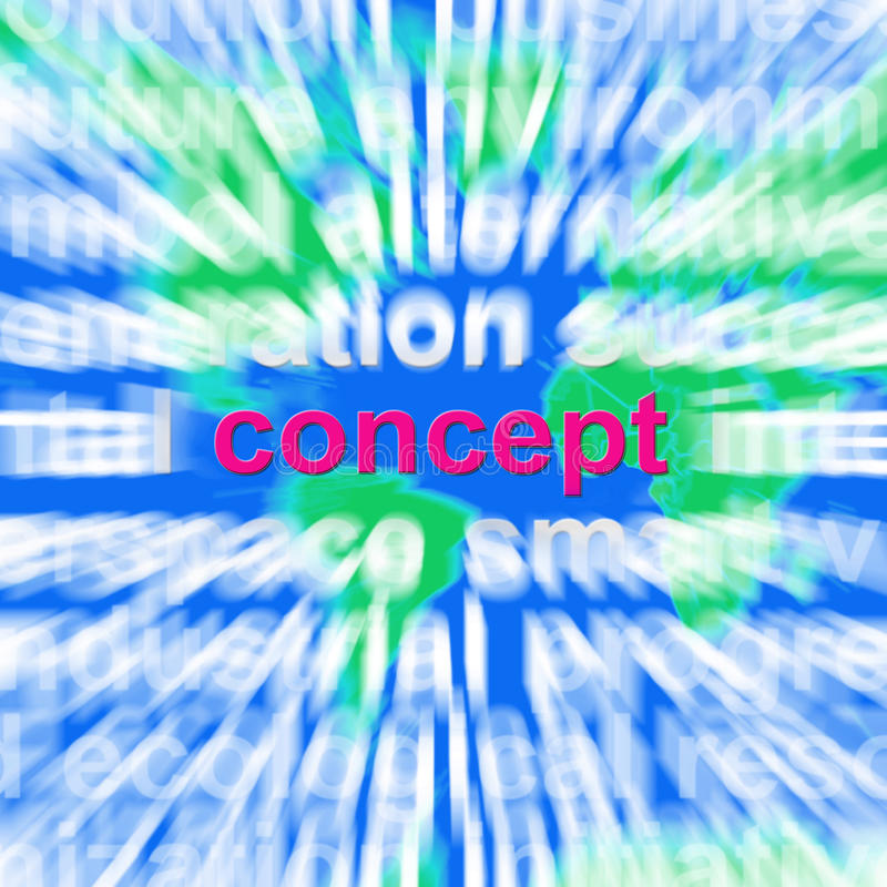 Conceptenword de Wolk toont Ideeconcepten stock illustratie