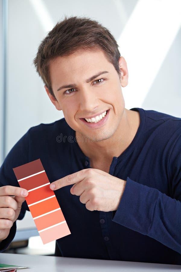 Concepteur avec la couleur rouge photo libre de droits