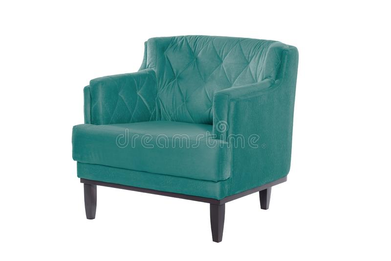 Concepteur moderne de beau fauteuil bleu photos stock