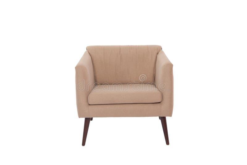 concepteur moderne de fauteuil de tissu et en bois photo libre de droits
