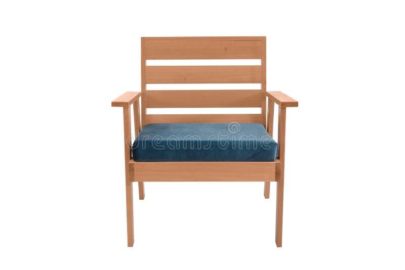 concepteur moderne de fauteuil de tissu et en bois photos libres de droits