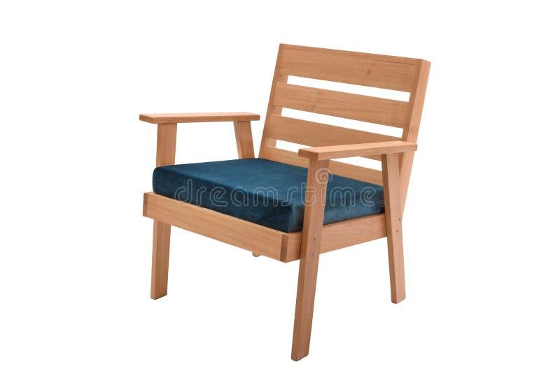 concepteur moderne de fauteuil de tissu et en bois images stock