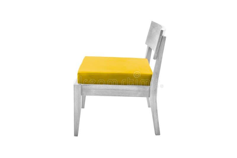 concepteur moderne de fauteuil de tissu et en bois photo stock