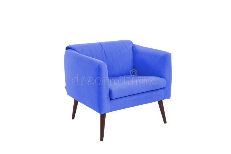 concepteur moderne de fauteuil de tissu et en bois photographie stock libre de droits