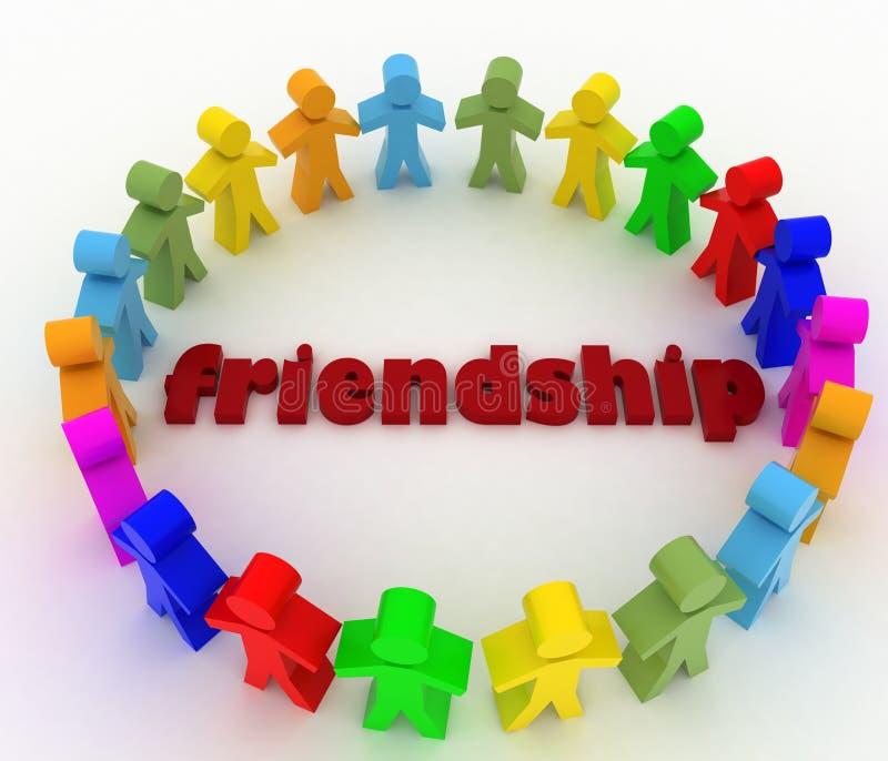 Conceptie van vriendschap van de volkeren vector illustratie