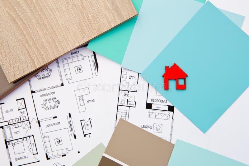 Conception à la maison - décoration intérieure photographie stock libre de droits