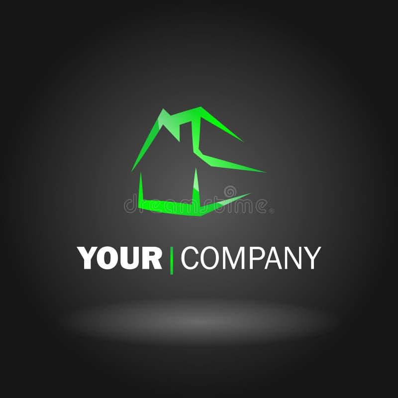 Conception à la maison de logo illustration de vecteur