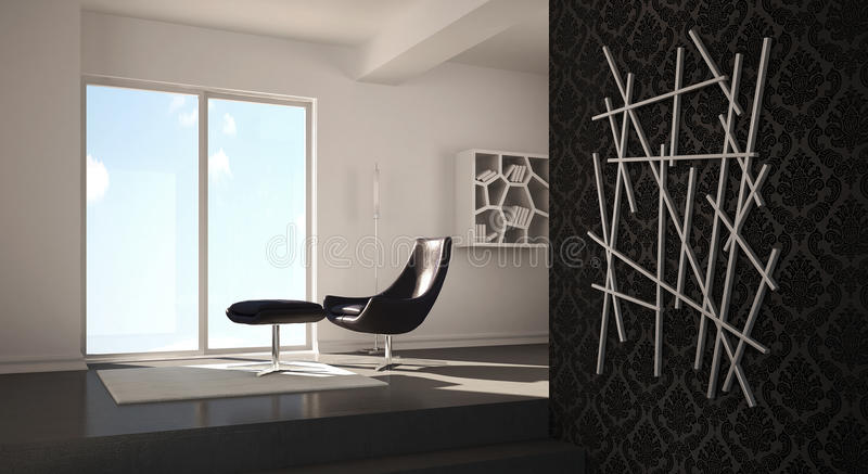 Conception à la maison moderne intérieure illustration stock