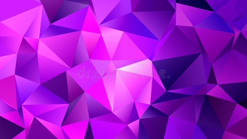 Conception à la mode de contexte de triangles de rose basse poly illustration stock