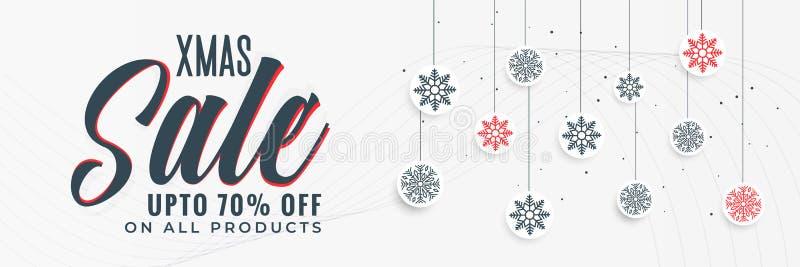 Conception élégante de bannière de vente de Noël illustration de vecteur