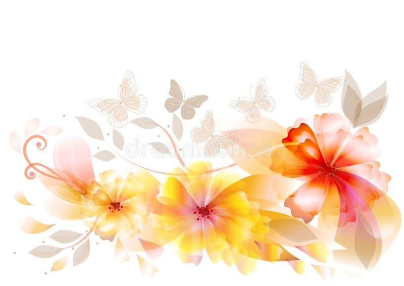 Conception élégante de fleurs de vecteur illustration stock