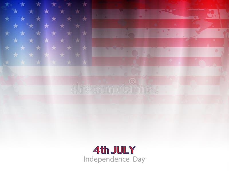 Conception élégante de fond de thème de drapeau américain illustration libre de droits