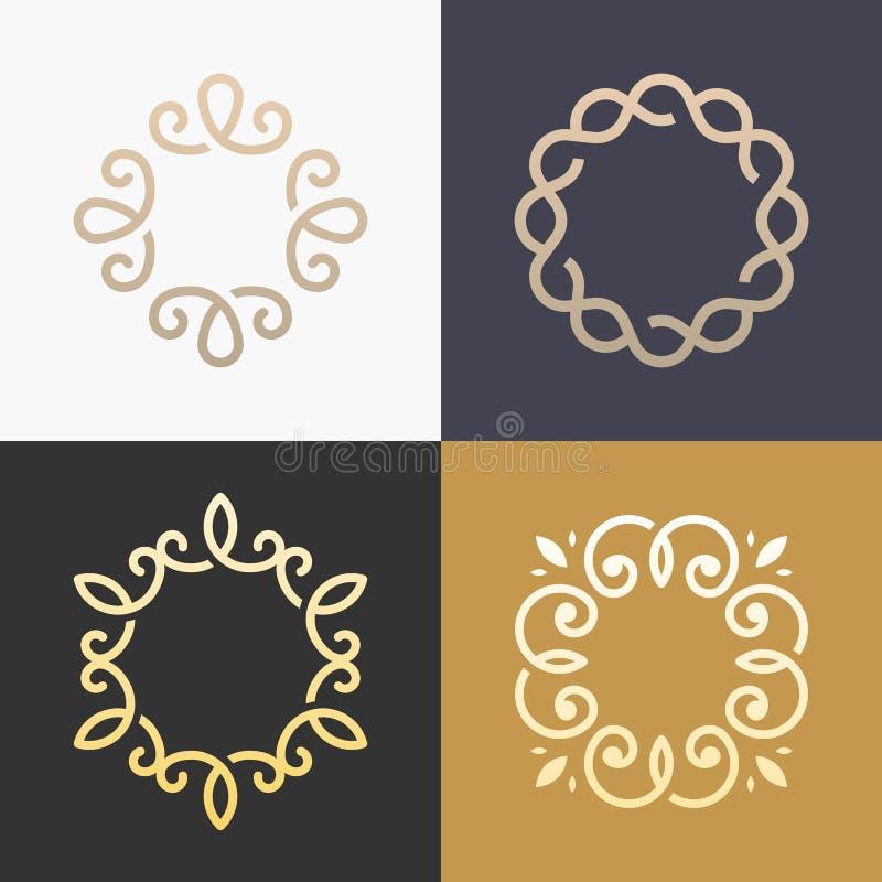 Conception élégante de vecteur d'icône de logo de monogramme abstrait illustration de vecteur
