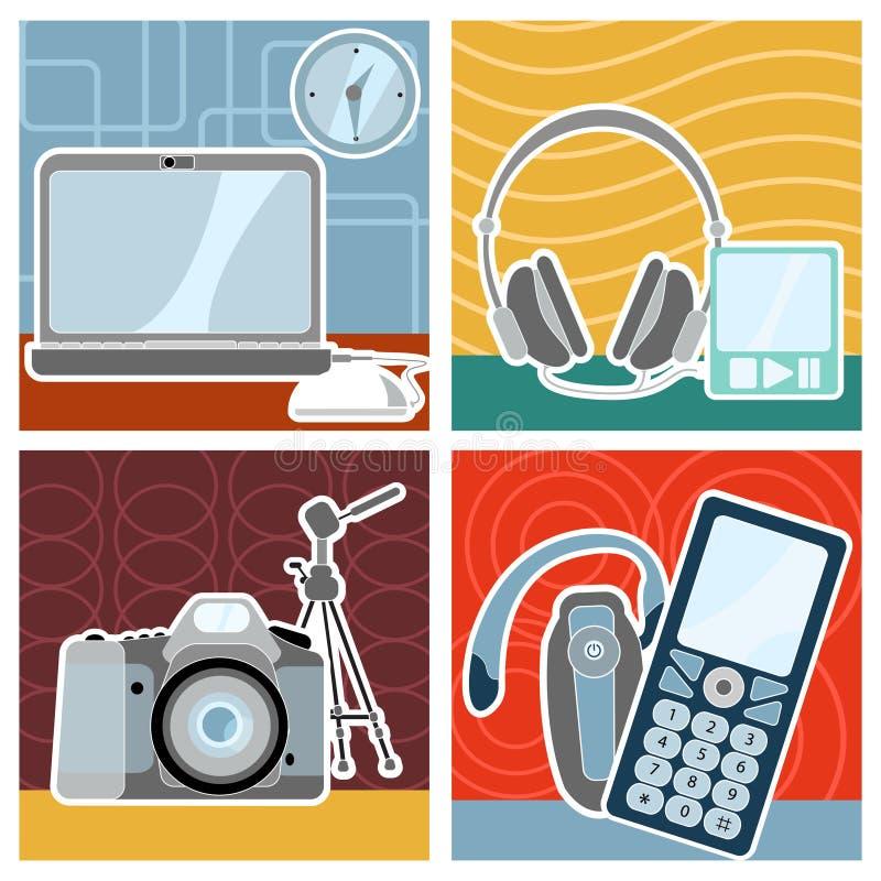conception électronique illustration stock