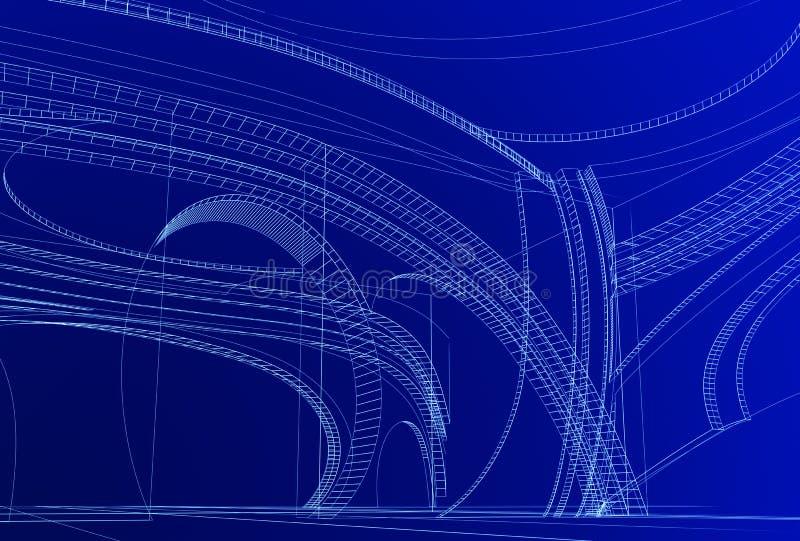Conception 3D abstraite illustration libre de droits