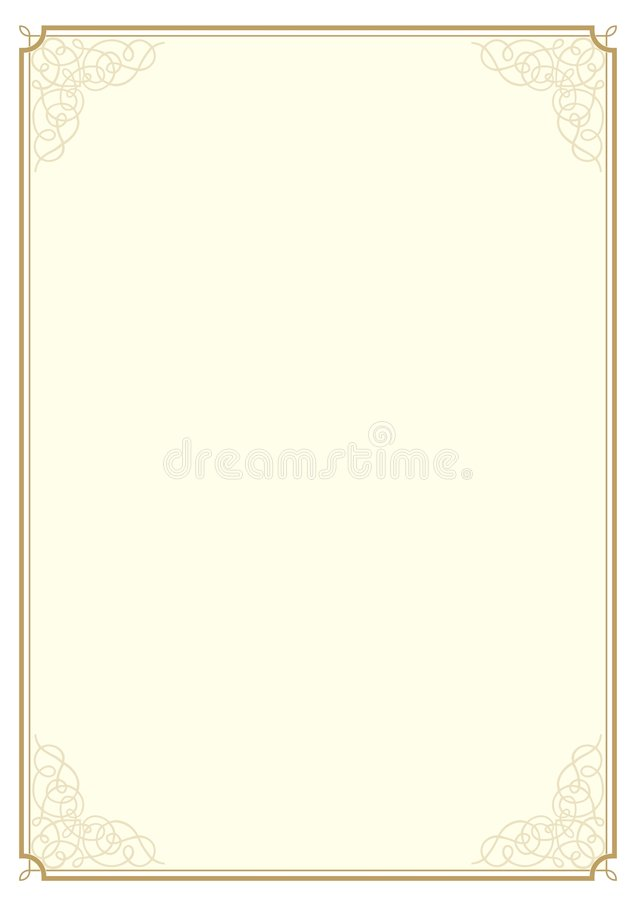 Conception A4 de certificat illustration de vecteur