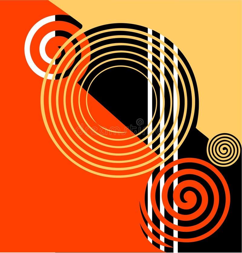Conception abstraite. illustration de vecteur